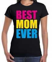 Best mom ever beste moeder ooit fun verjaardag t-shirt zwart voor dames kopen