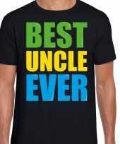 Best uncle ever beste oom ooit fun verjaardag t-shirt zwart voor heren kopen