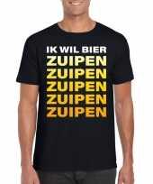 Bier zuipen fun t-shirt zwart voor heren kopen