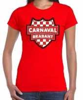 Brabant verkleedshirt voor carnaval rood dames kopen