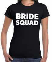 Bride squad fun t-shirt zwart voor dames kopen