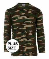Camouflage shirt longsleeve plus size kopen