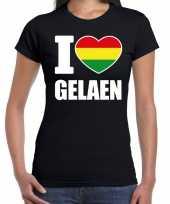 Carnaval i love gelaen geleen t-shirt zwart voor dames kopen