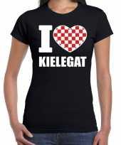 Carnaval i love kielegat breda t-shirt zwart voor dames kopen