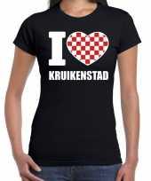 Carnaval i love kruikenstad tilburg t-shirt zwart voor dames kopen