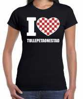 Carnaval i love tullepetaonestad roosendaal t-shirt zwart voor dames kopen