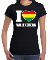 Carnaval i love vallekeberg valkenburg t-shirt zwart voor dames kopen