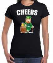 Cheers feest-shirt outfit zwart voor dames st patricksday kopen
