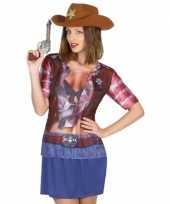 Cowboy shirt verkleedoutfit voor dames kopen