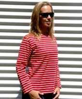 Dames shirt lange mouw met bretonse streep kopen