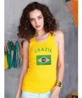 Dames tanktop met de braziliaanse vlag kopen