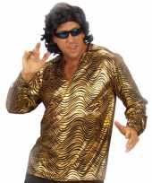 Disco verkleedkleding goud overhemd kopen