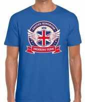 Engeland drinking team t-shirt blauw heren kopen