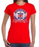 Engeland drinking team t-shirt rood dames kopen