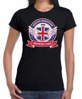 Engeland drinking team t-shirt zwart dames kopen
