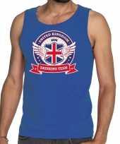 Engeland drinking team tanktop mouwloos shirt blauw heren kopen