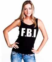 Fbi mouwloos shirt zwart voor dames kopen
