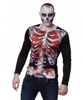Fotorealistische zombie skelet-shirt kopen