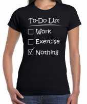 Fout to do list excercise t shirt zwart voor dames kopen