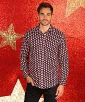Foute kerst blouse met kerstmannetjes kopen