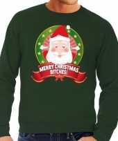 Foute kersttrui groen verliefde kerstman heren kopen