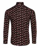 Foute rendier blouse met rendiermannetjes zwart kopen