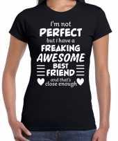 Freaking awesome best friend beste vriend cadeau t-shirt zwart voor dames kopen