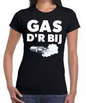 Gas der bij zwarte cross achterhoek t-shirt zwart voor dames kopen