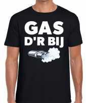 Gas der bij zwarte cross achterhoek t-shirt zwart voor heren kopen