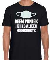 Geen paniek ik heb alleen hooikoorts t-shirt zwart voor heren kopen