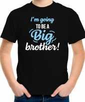 Going to be a big brother kado shirt voor jongens kinderen zwart kopen