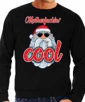 Grote maat foute kerstborrel trui kersttrui motherfucking cool stoere santa zwart voor heren kopen