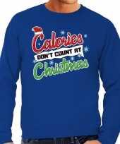 Grote maten foute kerstborrel trui kersttrui calories don t count at christmas blauw voor heren kopen