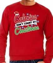Grote maten foute kerstborrel trui kersttrui calories don t count at christmas rood voor heren kopen