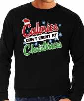 Grote maten foute kerstborrel trui kersttrui calories don t count at christmas zwart voor heren kopen