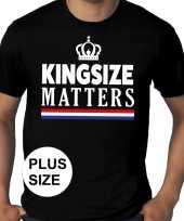 Grote maten kingsize matters koningsdag met kroon shirt zwart heren kopen