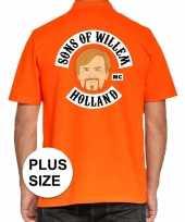 Grote maten koningsdag polo t-shirt oranje sons of willem holland mc voor heren kopen
