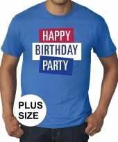 Grote maten officieel toppers in concert happy birthday party 2019 t-shirt blauw heren kopen