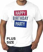Grote maten officieel toppers in concert happy birthday party t-shirt wit heren kopen
