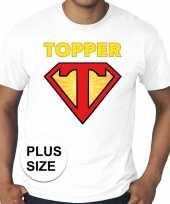 Grote maten t-shirt super topper heren wit kopen