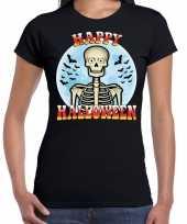 Happy halloween horror shirt zwart voor dames kopen