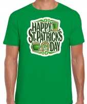 Happy st patricks day feest-shirt outfit groen voor heren st patricksday kopen