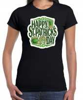 Happy st patricks day feest-shirt outfit zwart voor dames st patricksday kopen
