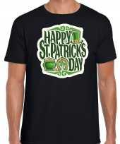 Happy st patricks day feest-shirt outfit zwart voor heren st patricksday kopen
