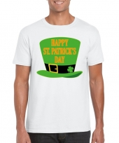 Happy st patricksday t-shirt wit heren kopen