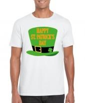 Happy st patricksday t-shirt wit heren kopen