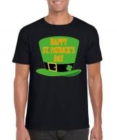 Happy st patricksday t-shirt zwart heren kopen