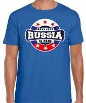Have fear russia rusland is here supporter shirt kleding met sterren embleem blauw voor heren kopen
