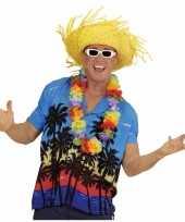 Hawaii kostuum blauw overhemd voor heren kopen
