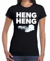 Heng heng zwarte cross achterhoek t-shirt zwart voor dames kopen